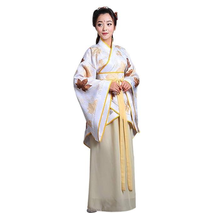 ZEVONDA Mujer Clásico Traje Tang Antiguo Ropa Tradicional de Estilo Chino Vestido Hanfu Disfraz de Cosplay Actuaciones: Amazon.es: Ropa y accesorios