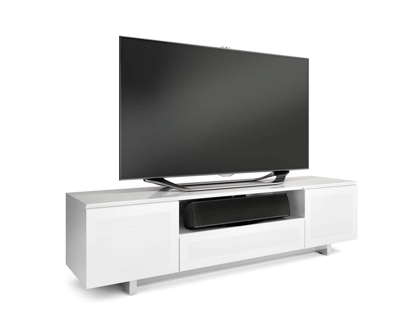 Amazon.com: BDI Nora Slim 8239 S Quad Wide Entertainment Cabinet, Gloss  White: Home U0026 Kitchen