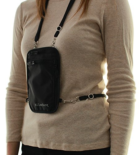 Blissfare Neck Wallet with Removable Waist Strap - RFID Blocking Passport Holder - The Travel Cache