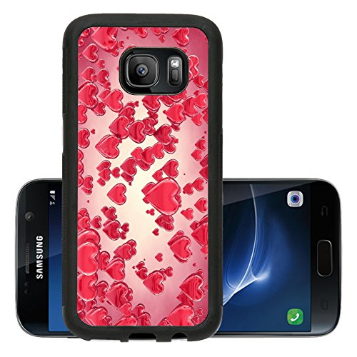 Liili Premium Samsung Galaxy S7 Aluminum Snap Case Valentine s day background...