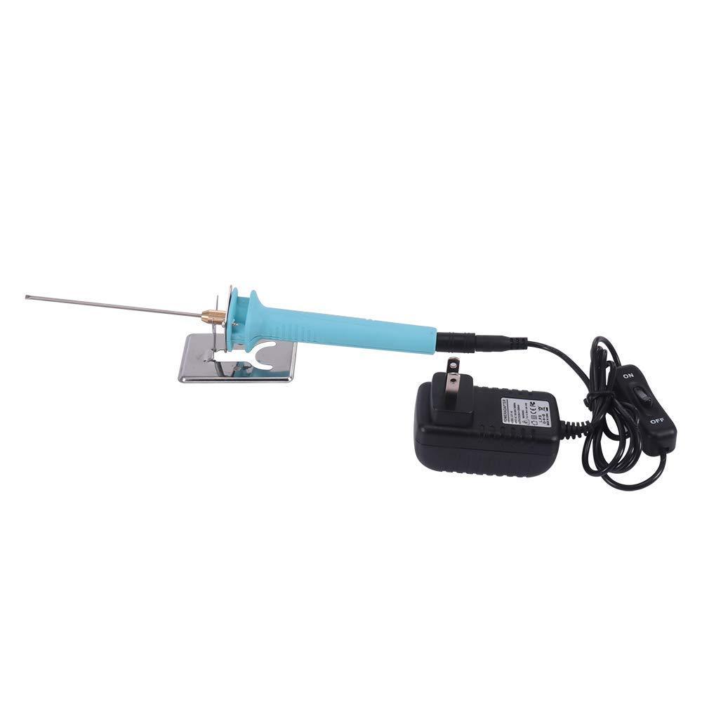 Foam Cutter Electric Styrofoam Cutting Tool Pen, 2 Pack Craft Hot Knife Foam Wire Cutter Set, 10CM Styrofoam Cutting Machine Knife with 15W Electronic Voltage Transformer Adaptor,Stand Holder by Houkiper