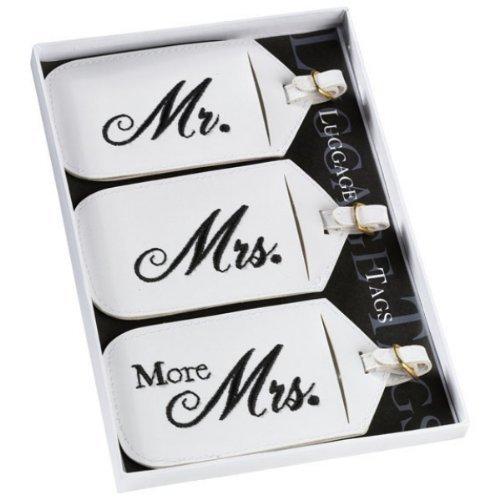 Lillian Rose® 3-pc. Mr. & Mrs. Luggage Tag Set