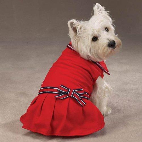 Zack & Zoey Nautical Polo Dress - XS - Red