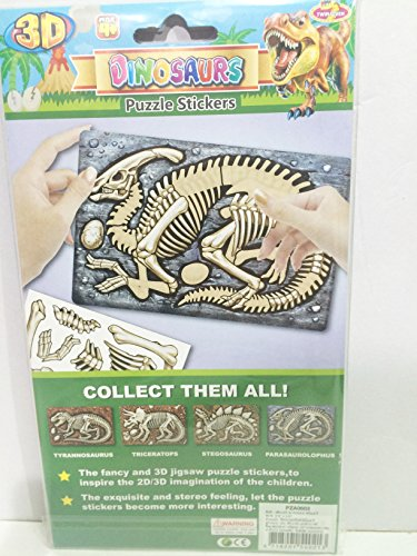 Dinosaur Parasaurollophus Puzzle Stickers 3D style