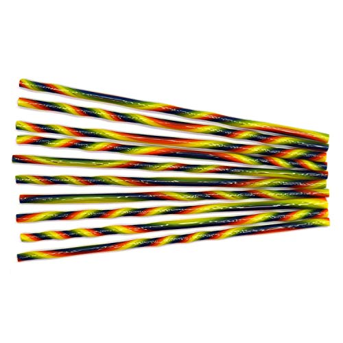 (Rainbow Stripe Double Twisted Cane Pack - 96 Coe)