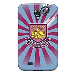 New WrhGK2108-PkW The Famous Football Club England West Ham United Tpu Cover Case For Galaxy S4