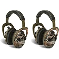 Walkers Alpha Muffs 360 Hunting 9x Hearing Enhancement Earmuffs, Camo (2 Pack)