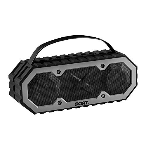 PORT Completely Submersible Portable Bluetooth Speaker, Rechargeable, Wireless, Powerful 5W Audio Driver, Compatible With All Bluetooth Devices, Waterproof Speaker for iPhone, Android, iPod & iPad