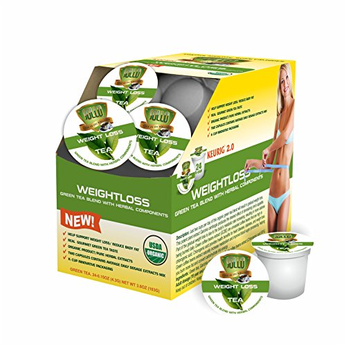 WEIGHT LOSS USDA ORGANIC K-CUP TEA, 24 CUP for KEURIG 2.0 ...