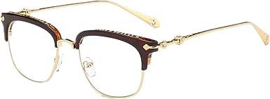 Shiratori New Vintage Classic Half Frame Semi-Rimless Clear Lens Glasses