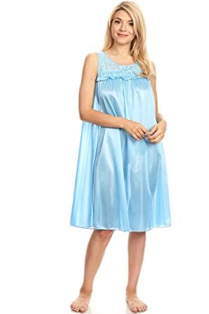 d58c9ea4ed47 Lati Fashion 9047 Women Nightgown Sleepwear Pajamas Woman Sleep Dress  Nightshirt Blue M