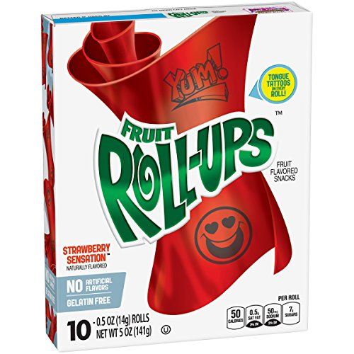 Betty Crocker Snacks Fruit Roll-Ups, Strawberry Sensations, 5 Ounce (Pack of 10)