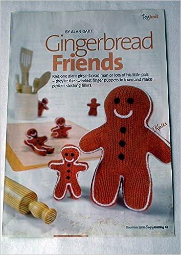 Gingerbread Friends By Alan Dart Toy Knitting Pattern Measurementa