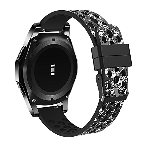 Baaletc 22mm Watch Band Compatible Samsung Gear S3 Frontier Bands/S3 Classic Band/Moto 360 2nd Gen 46mm/Huawei Watch 2 Classic Silicone Material