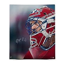 "Patrick Roy Autographed ""Up Close & Personal"" 20 x 24 Canvas - Upper Deck Certified - Autographed NHL Art"