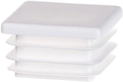 Bouchon pour tuyau carr/é 100x100 anthracite plastique Capuchon Bouchons 5 Stck