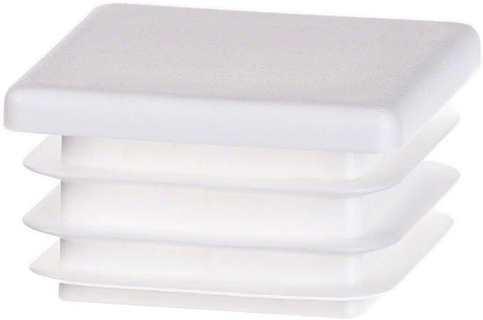 10 pcs Bouchon pour tuyau carr/é 15x15 anthracite plastique Capuchon Bouchons