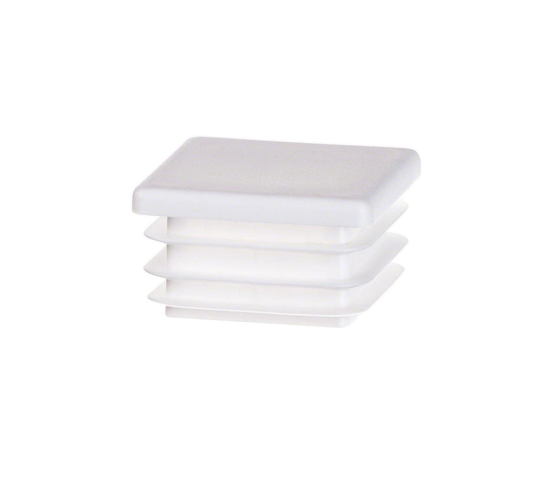 5 pezzi tappo per tubo quadrato 35x35 bianco plastica tappi a lamelle cappuccio
