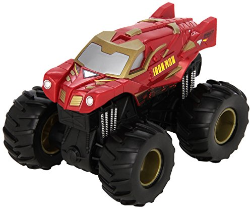 Hot Wheels Monster Jam Rev Tredz Iron Man Vehicle (Red Monster Truck)
