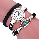 Pocciol Clearance Lady Wrist Watch Female on Sale Watches for Women Round Dial Case Comfortable Leather Wristwatch Clock