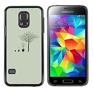 Be Good Phone Accessory // Dura Cáscara cubierta Protectora Caso Carcasa Funda de Protección para Samsung Galaxy S5 Mini, SM-G800, NOT S5 REGULAR! // Deep Meaning Tree Metaphor
