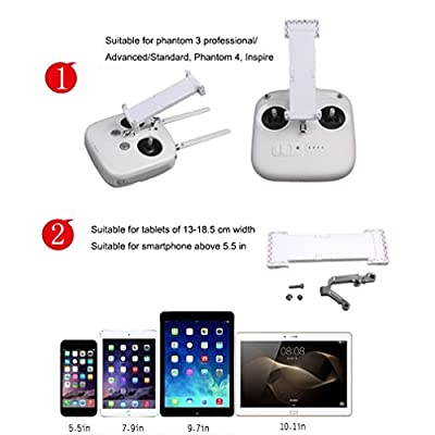 Drone Fans Upgraded Phantom 3 Standard 3A 3P and Phantom 4 Inspire 5.5 - 9.7 inch Phone Tablet Extended Holder with Metal Bracket: Toys & Games