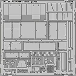Eduard 1:35 M-3 GMC 75mm for Dragon Kit - PE Detail Set #36121 from Eduard