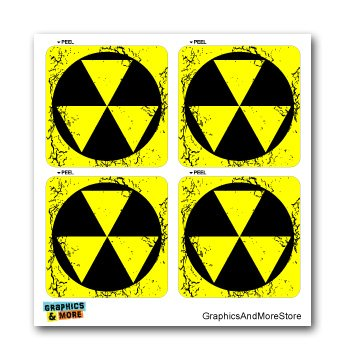 Price comparison product image Fallout Fall Out Zombie Shelter Sign Symbol - Set of 4 - Window Bumper Laptop Stickers