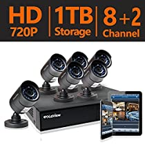 LaView 6 HD 720P Security Camera System, 8 Channel HD-TVI Analog CCTV Video DVR System w/ 1TB HDD & 6 Bullet 720P Cameras