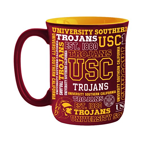 NCAA USC Trojans Sculpted Spirit Mug, 17-ounce (Usc Mug)