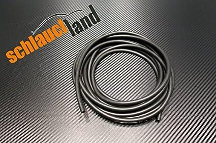 Unterdruckschlauch Innendurchmesser 6 mm schwarz *** Silikonschlauch Vakuumschlauch Schlauch Meterware