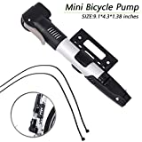 Mini Bike Pump, Ultralight Aluminum Alloy Mini Portable Bicycle Tire Pump Presta Schrader Valve Sports Ball Hand Pump