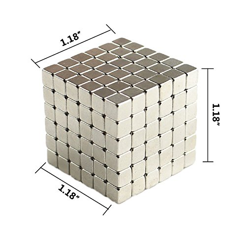 Magnetic Cube, Square Permanent Magnet Cube Intellectual Toy for Chide and Adult(216pcs) by radarfn