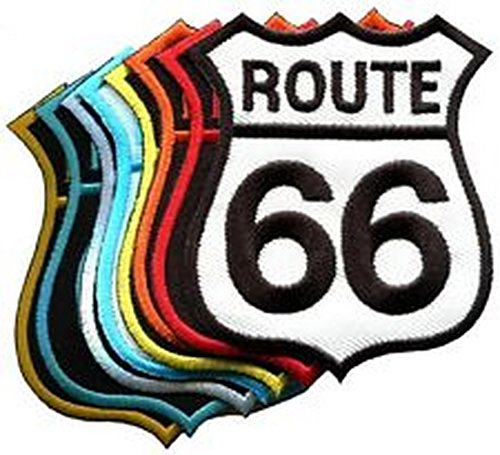 Spinner Lot of 8 Route 66 retro muscle cars 60s americana USA appliques iron-on patches Better Bag Cloth Tee Shirt (Route Blazer 66)