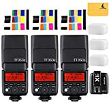 GODOX TT350F 2.4G HSS 1/8000s TTL GN36 3XCamera Flash Speedlite for Fuji Digital Camera,GODOX X1T-F TTL 1/8000s HSS 32 Channels 2.4G Flash Trigger Transmitter for Fuji DSLR Cameras
