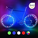 #2: Bodyguard Bike Wheel Lights, Automatic and Manual lighting, Waterproof Bicycle Wheel Light String, Ultra Bright LED (1Pack) with BATTERIES INCLUDED!