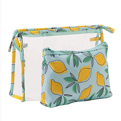Zipper Women Bag 2pcs Pouch Makeup Cosmetic Transparent Storage Kalttoy 06 Toiletry Pvc 8wn5Rqx4