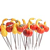 Factory Direct Craft® Group of 24 Small Decorative Artificial Autumn Assorted Pumpkin and Gourd Picks for Holiday and Home Decor and Crafting