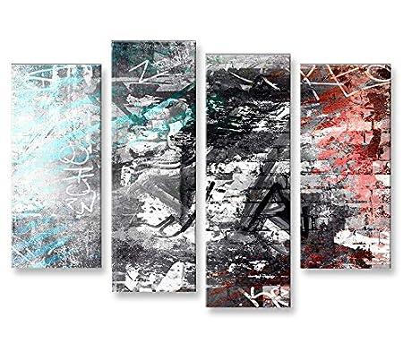 Bild Bilder Auf Leinwand Moderne Kunst V5 4er Xxl Poster