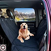 Dog Car Seat Covers for Cars by Khotso - Backseat Cover for SUV & Trucks, Waterproof Backseat Protection for Bench Seat, XL Oversize Fit, Large Fully Quilted Car Protection
