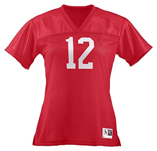 (Augusta Ladies Replica Football Jersey, Red, X-Large)