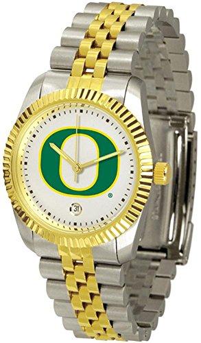 University of Oregon Ducks Men's Two Tone Gold Dress Watch