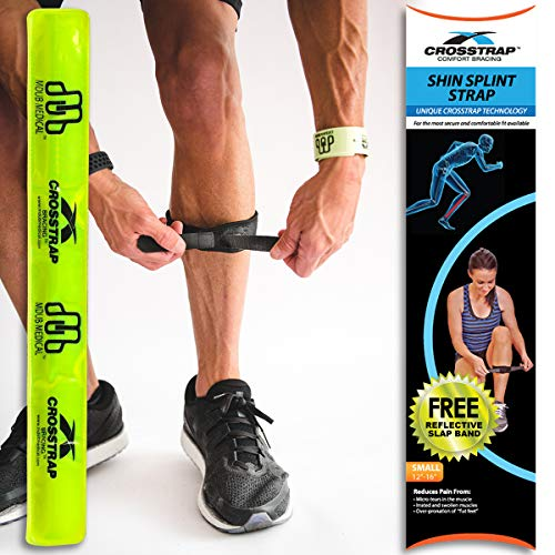 CROSSTRAP Shin Splint by MDUB Medical | 1-Strap (Small) | Adjustable, Neoprene, Shin Splints Leg Compression Strap Support for Pulled Calf Muscle Pain Torn Calf Strain Injury | for Men and Women