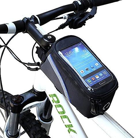 ArcEnCiel Water Resistant Front Top Tube Pannier Bike Frame Storage Bag Mobile Phone Holder ≤ 5.7