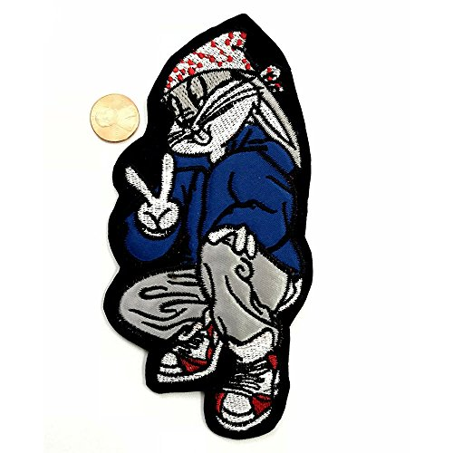 6.5'' Looney Tunes Bugs Bunny Bandana Hoody Cartoon Sew-On Patch by Anrox Supply Co.