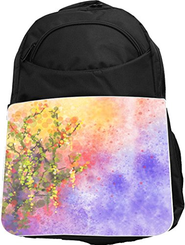 Rikki Knight UKBK Wisteria Flower Painting Tech BackPack ...