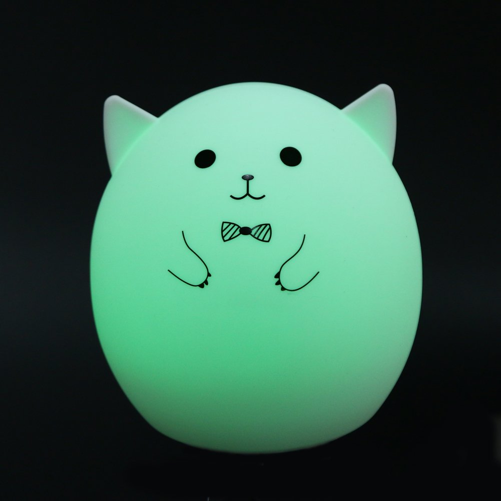 MKChung Mini LED Night Light, Cute Animal Shape Silicone Decompression Lamp for Student Kid Gift (Colorful)(Style 1) by MKChung (Image #4)