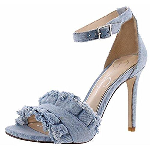 Jessica Simpson Women's Silea Vintage Blue Denim Sandal