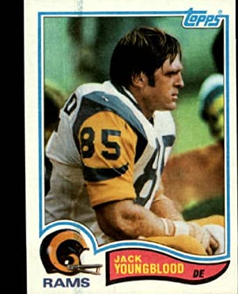Amazon.com  1982 Topps Football Card  388 Jack Youngblood Near Mint Mint   Collectibles   Fine Art 9e152c57a