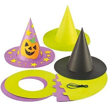 qualité de la marque bon out x profiter de prix bas Baker Ross Chapeaux de sorcière et sorcier colorés que les enfants pourront  fabriquer et décorer (Lot de 3)
